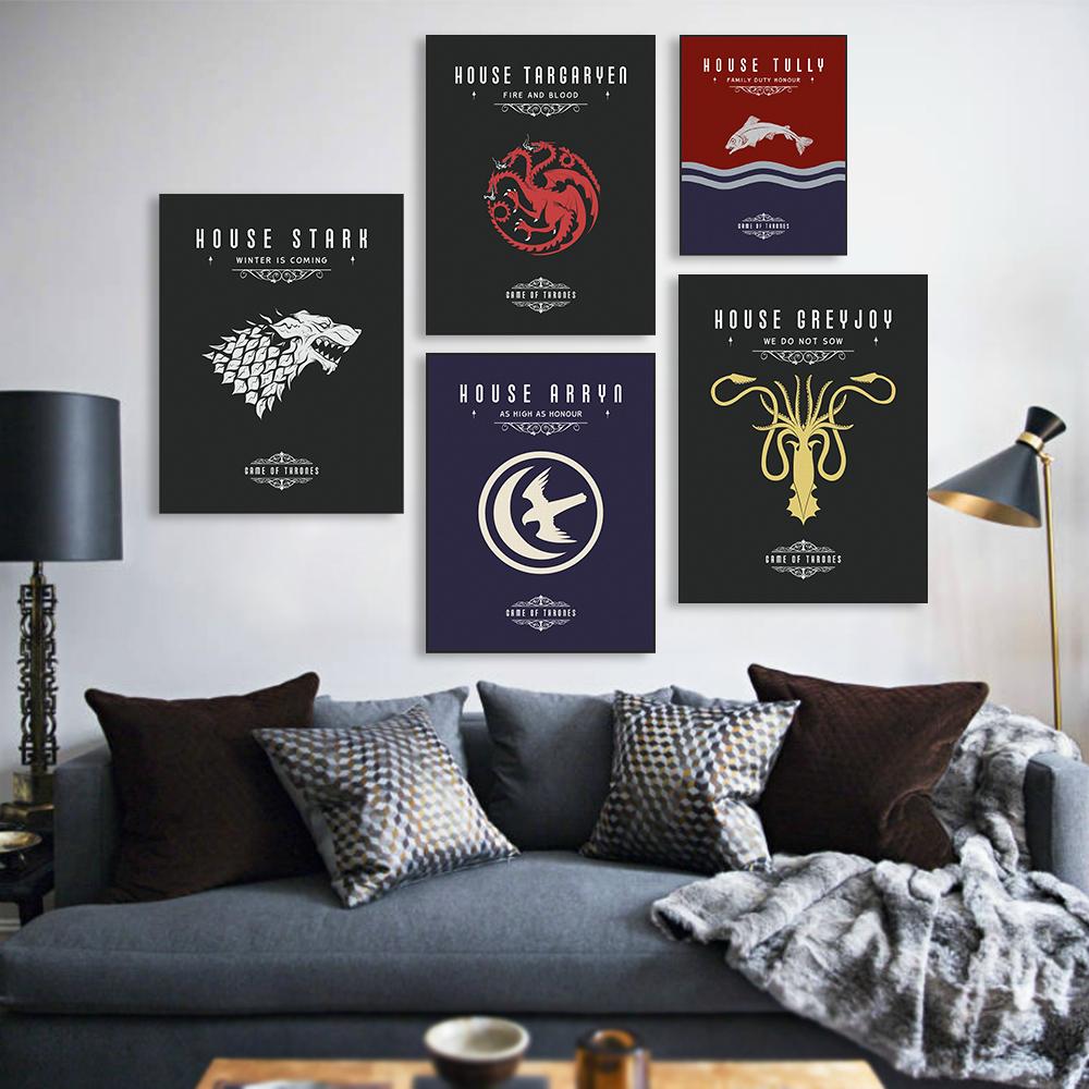Online kopen wholesale herten schilderen uit china herten schilderen groothandel - Game of thrones interieur ideen ...