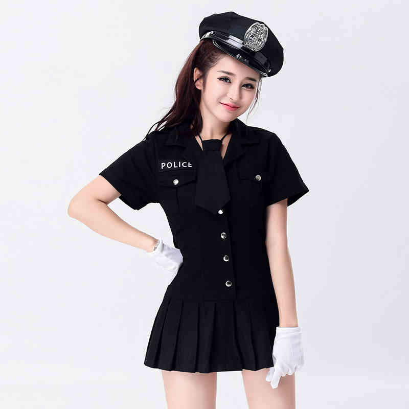 Sexy Arresting Police Officer Cop Adult Costume Female Police Officer Women Sexy Police Uniform Costumes Outfit Fancy Cosplay(China (Mainland))