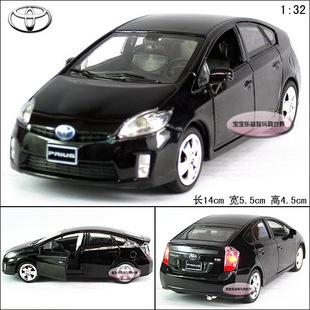 1:32 Toyota Prius Alloy Diecast Model Car With Sound&Light Black B200a(China (Mainland))
