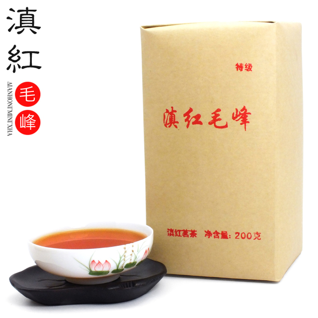 [GREENFIELD] Promotion !! 2015 Yunnan black tea Fengqing Dianhong Dian Hong congou black tea premium black tea red maofeng 200g(China (Mainland))