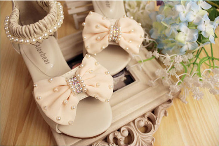 New Design Sale Kids Glitter Zip Shoes Princess Girls Sandals Summer 2015 High Heels Delicate Stitches Sandal(China (Mainland))
