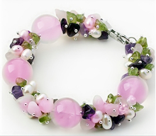 <Original Design>Natural Rose Quartz Bracelet for Women 2014 Spring Fashion Bracelet - net sales lowest Release(China (Mainland))