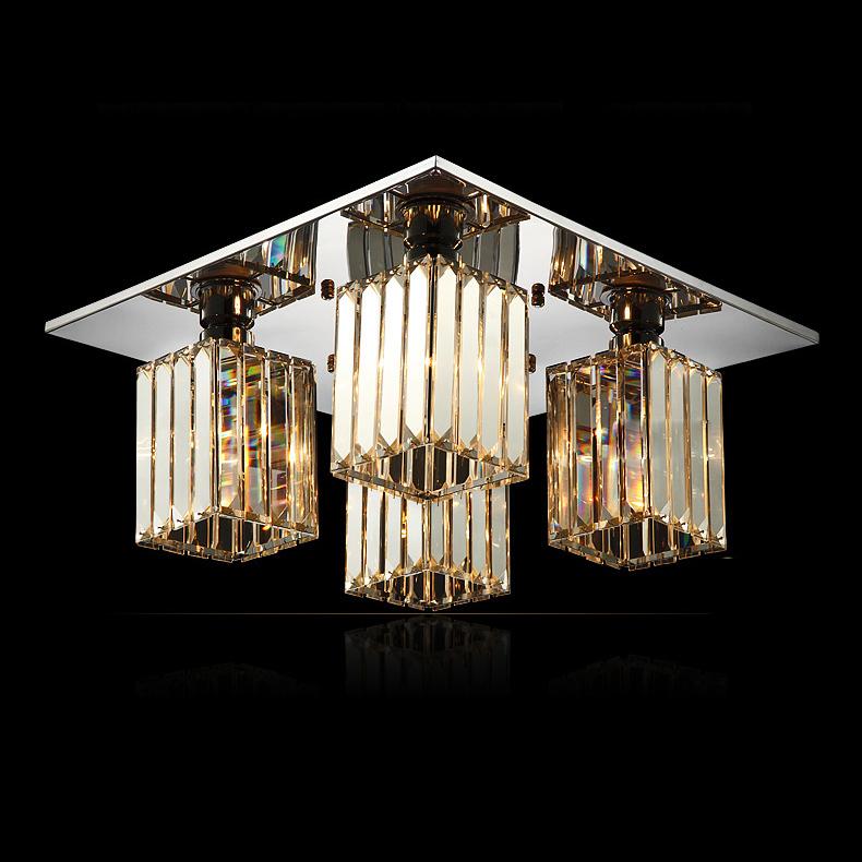 modern oblong crystal living room ceiling lamp luxury