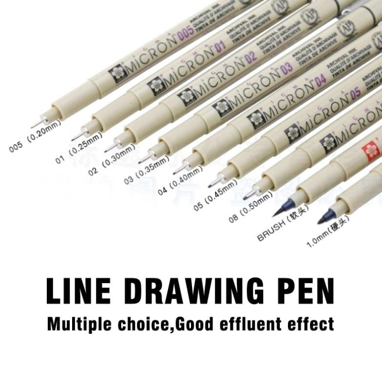 Line Art Pens : Line drawing pen water soluble cartoon graffiti art