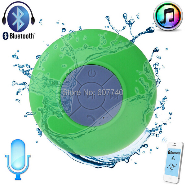 portable Waterproof Wireless Bluetooth Speaker Shower Car Handsfree Receive Call & Music Suction Phone Mic - Laptop Factory store