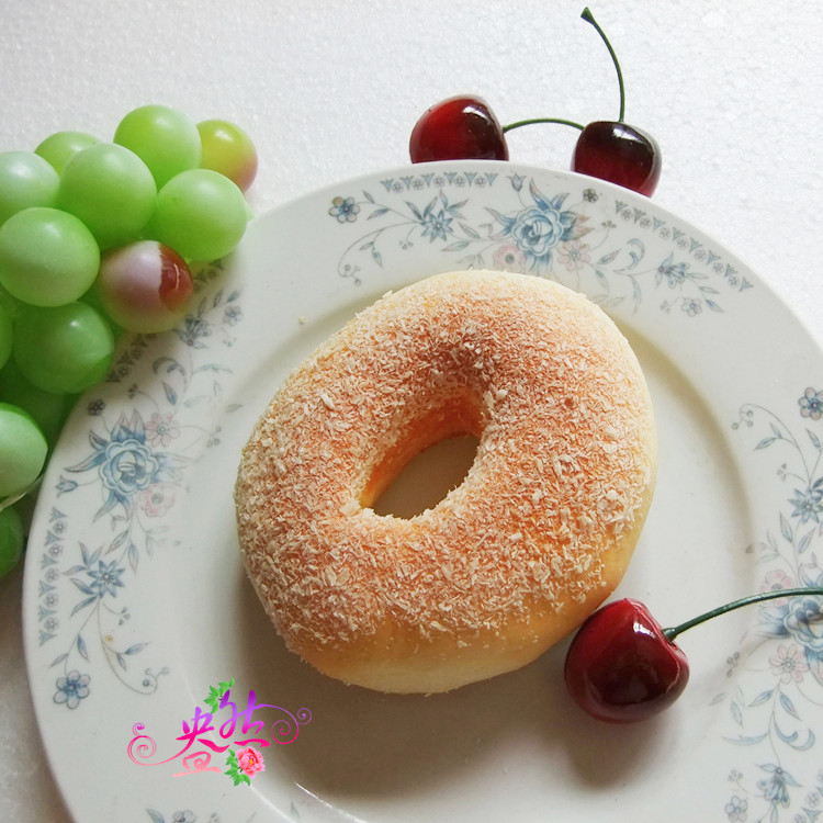 Fake bread type pu artificial bread with chocolate donuts for Artificial bread decoration