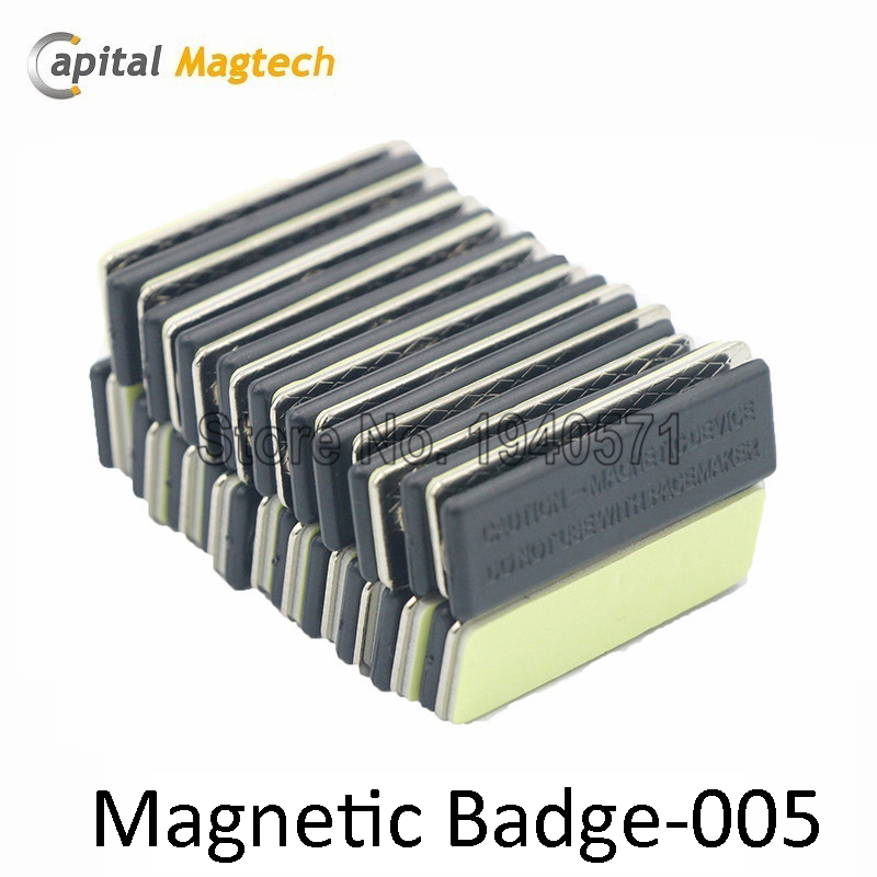 50pcs Magnetic Badge Name ID Badge Attachment Name Tag Holder with 3pcs Magnets  Free Shipping