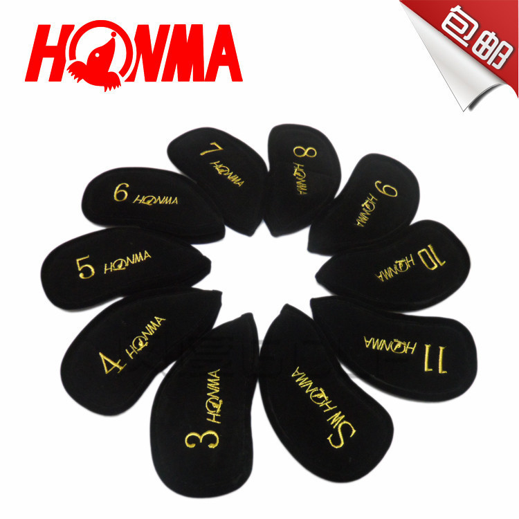 10PCS Free shipping 2015! Honma BERES Brand golf club head cover great quality made of Flannel WOOD iron cover(China (Mainland))