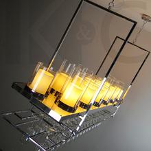 Lamps personality led bar counter lamp modern brief restaurant pendant light rectangle loft(China (Mainland))