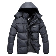 XXXL Outdoor Jacket Snow Men Winter Parka 2015 New Arrival Slim Jaqueta Masculina Zipper XXXL Thicken Outdoor Jacket