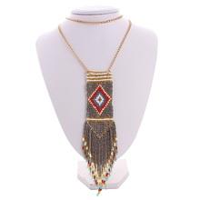 Buy Li & Fang Za Bib Maxi Star Bohemian Luxury Long Bead Tassel Statement Power Necklaces Women Jewelry Wholesale for $3.79 in AliExpress store
