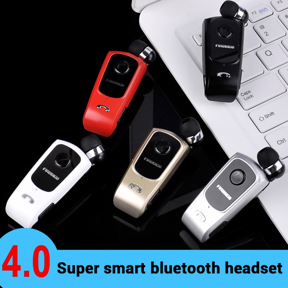 hot new Fineblue F920 Wireless Bluetooth Earphone Clip Style Headset Stereo Telescopic Bluetooth 4.0 Headphone w Mic for Xiaomi