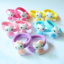 Buy 10 Pcs/Lot Sweet Various Pattern Cartoon Character Elastic Hair Ropes Bands Ropes Kids Hair Accessories for $1.38 in AliExpress store
