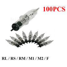 100x Permanent Tattoo Makeup Eyebrow Needles Assorted Sizes For Rotary Machine Pen Power Footpedal Kits Tattoo Supply(China (Mainland))
