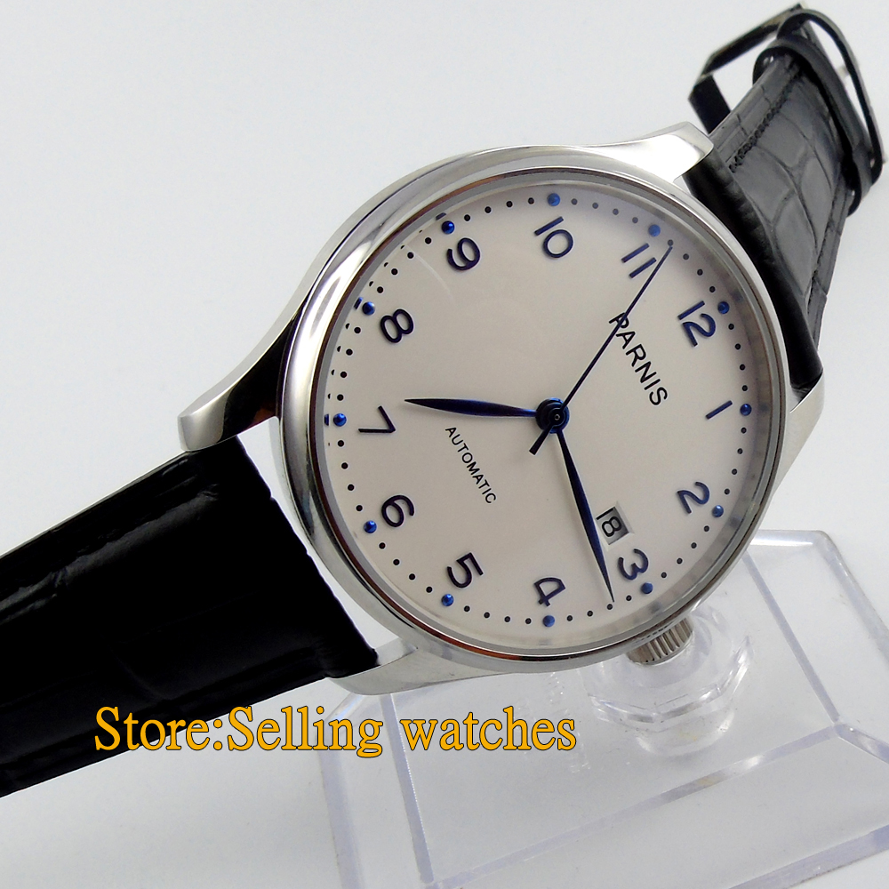 Parnis 43mm seagull automatic white dial stainless steel shell automatic watch<br><br>Aliexpress