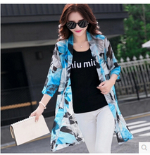 prevent bask coat women ultra-thin outerwear outdoor beach sun protection clothing printing cardigan air conditioning shirt