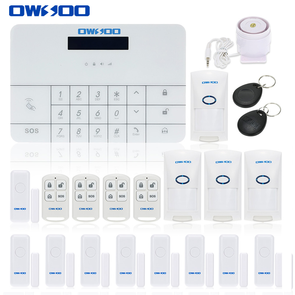 OWSOO Wireless Smart GSM Alarm System Wireless Home Security Alarm System With APP LCD Display Touch Keypad House Burglar System(China (Mainland))