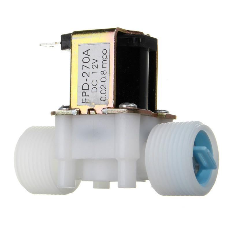 Новое поступление пластиковые электрические 12 в воды Соленоидный клапан DC 3/4 aeProduct.getSubject()