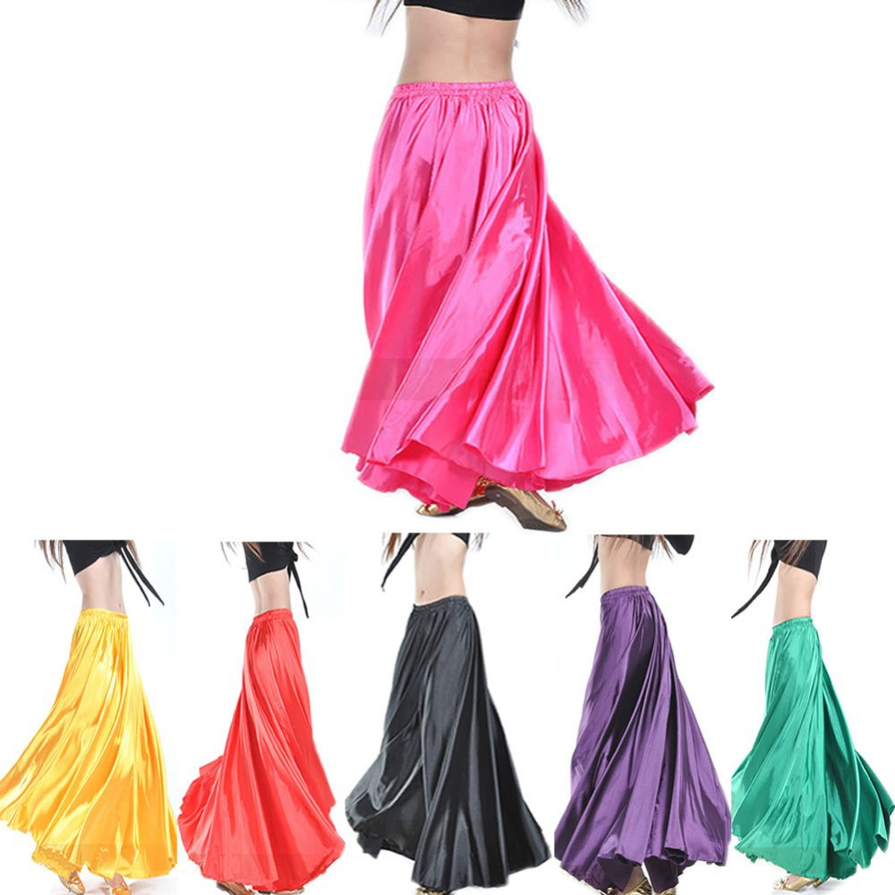 2017 Wholesale Chiffon Belly Dance Skirt for Women Cheap Belly Dancing Costume Gypsy Skirts on Sale