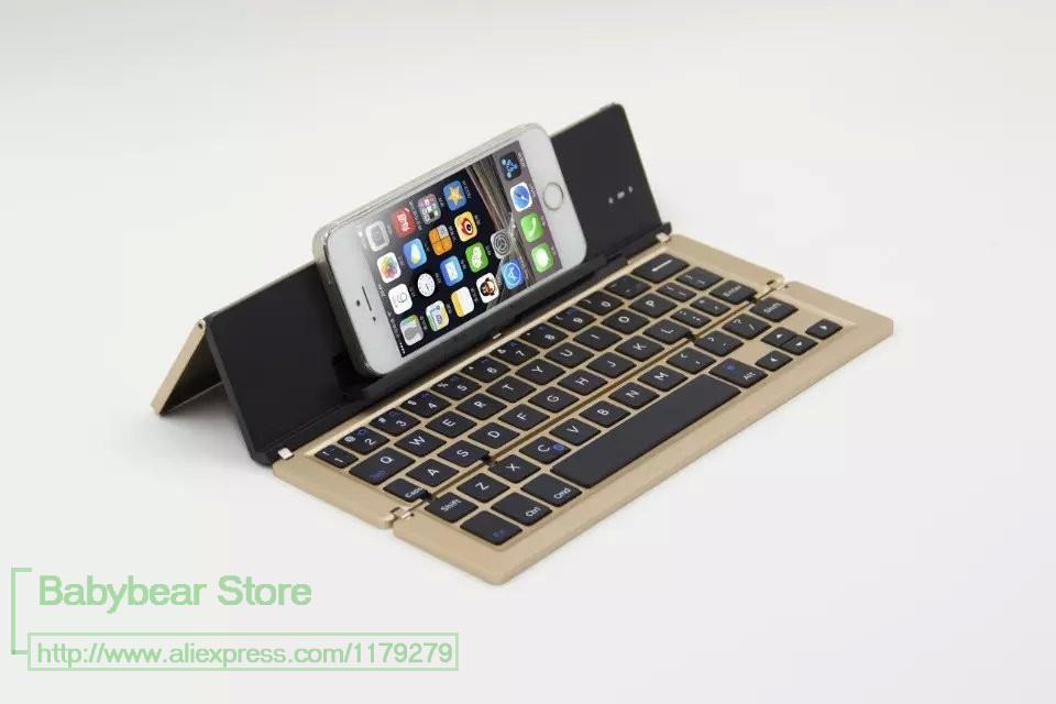 Luxury Universal Mini Bluetooth 3.0 Folding Foldable Bluetooth Wireless Keyboard for iPhone iPad iOS Android Smartphone Tablet(China (Mainland))