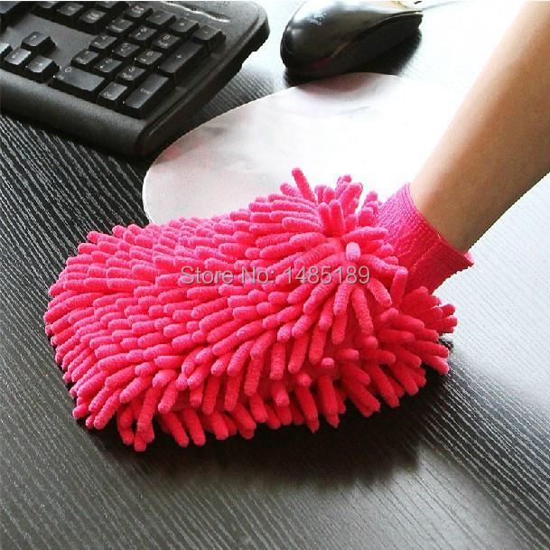 Super Mitt Microfiber Car Wash Washing Cleaning Gloves Car Washe Car Window Cleaner Wholesale 1ODM Color Random(China (Mainland))