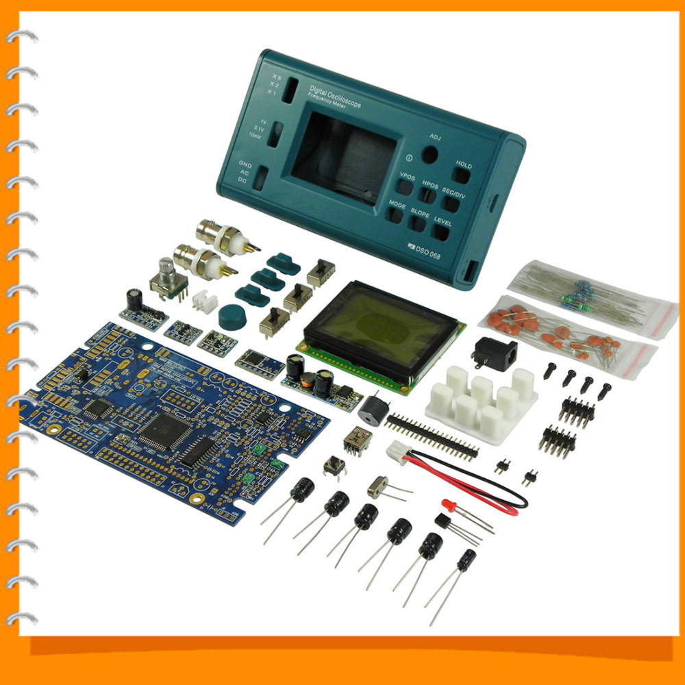 DSO068 DIY Oscilloscope Kit With Digital Storage Frequency Meter ATmega 64 AVR Microcontroller <br><br>Aliexpress