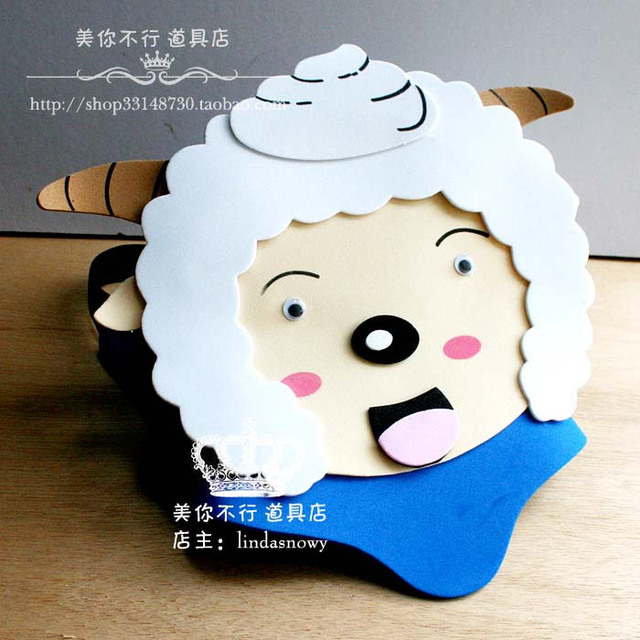 Toy animal hair accessory hat jubilance lazy goat