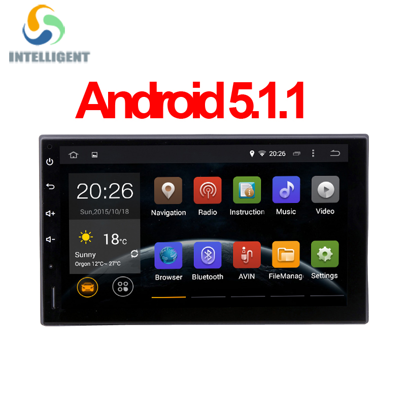Android 5.1 HD 1024*600 screen Quad core RK3188 ROM 16G 2 DIN universal android GPS radio wifi car stereo audio no DVD PLAYER(China (Mainland))