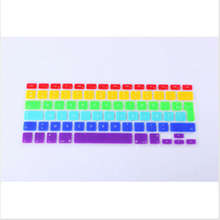 AZERTY French Rainbow keyboard cover for Apple macbook Air Pro Retina 13 15 17 Protective Stickers for mac book laptop Skin