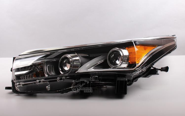 Car Styling Auto Headlight Headlamp For Toyota Corolla 2013 2014 2015 Bifocal Lens Guiding Light Best quality