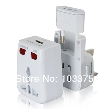 World Travel Power Charge Adapter with Surge Protection + USB Charging Port Free Shipping