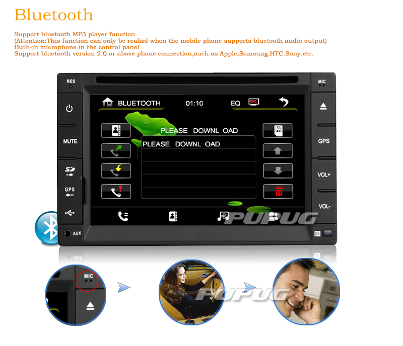 MP5 Accessory Radio Double 2 Din Vehicle Parts Receiver Stereo Remote Control PC Music Movie Car DVD Player Autoradio