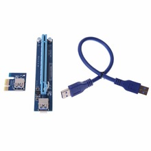 Buy 30CM/60CM USB3.0 Cable PCIe PCI-E Express 1X 16X Riser Card Enhanced Extender USB Riser Adapter Card BTC Mining Machine for $5.61 in AliExpress store
