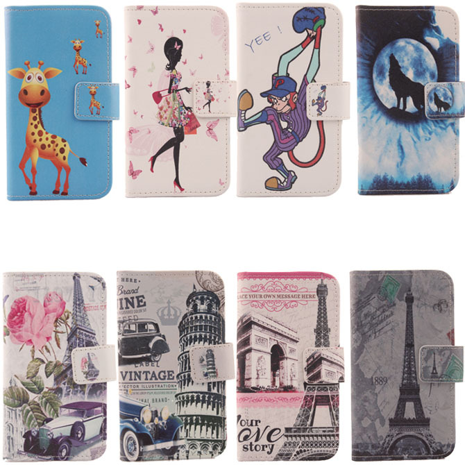 Hot Flip Cover Skin Pouch With Card Slot Optional Hot Colorful Drawing Design PU Leather Case Phone Case For Utime Smart PDA S55(China (Mainland))