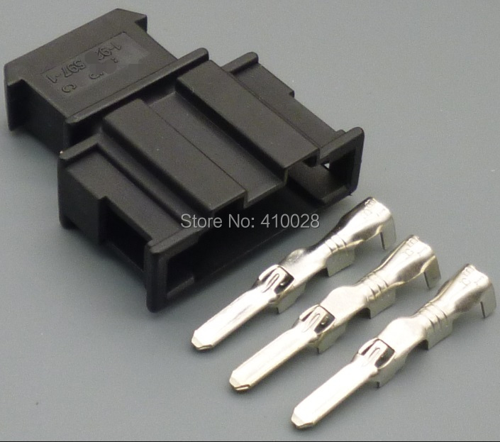 100sets 3.5mm  male for VW Volkswagen 191972713 sensor wiring harness automotive wiring harness connector plug connector<br>