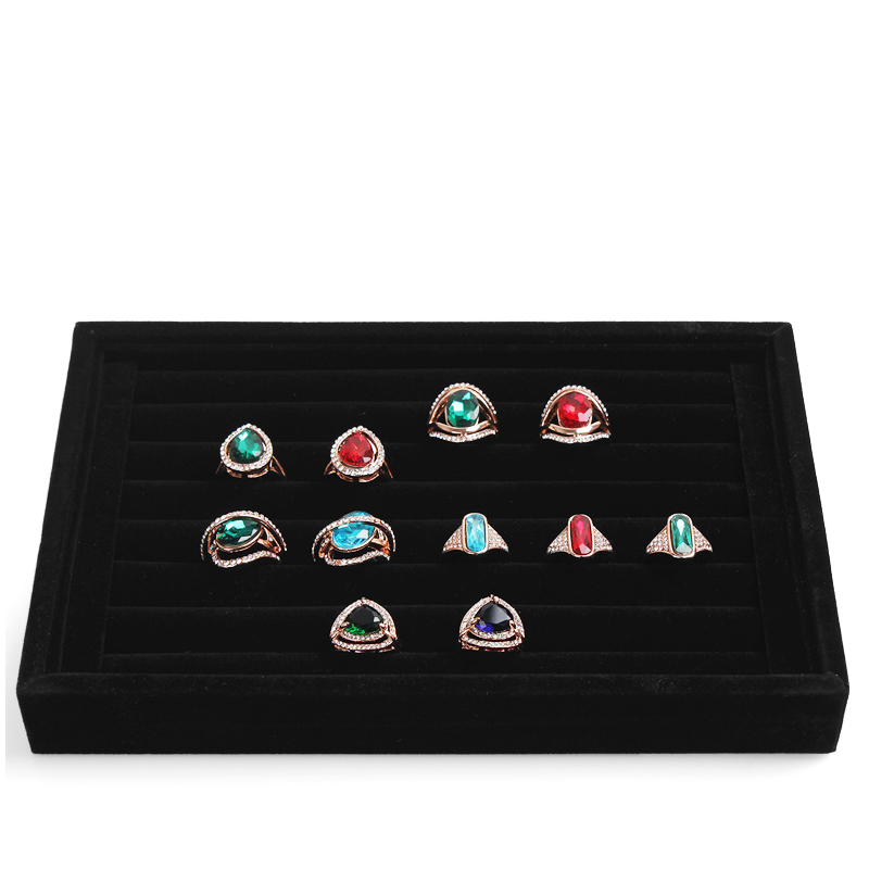 Hot selling Jewelry Display Rings Organizer Show Case Holder Box New Black 30 Slots Ring Storage Ear Pin Display Box A02-1(China (Mainland))