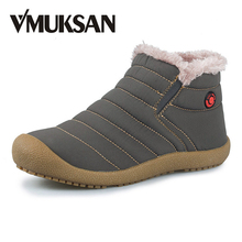 New Men Winter Snow Shoes Lightweight Ankle Boots Warm Fashion Waterproof Mens Rain Boots 2016 New Furry Booties Shoes For Men(China (Mainland))