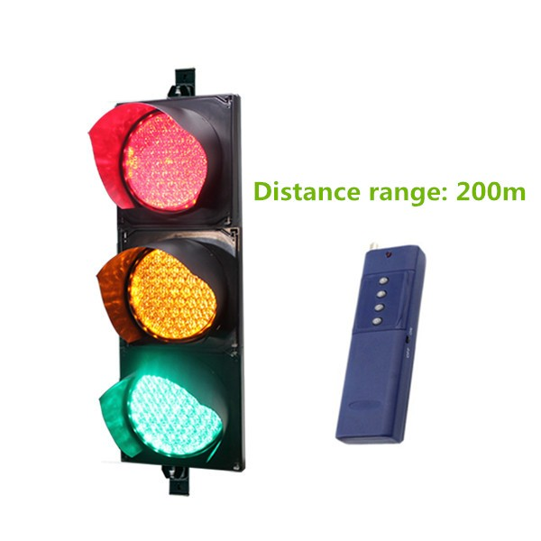 Red amber green traffic signals with remote control distance over 200m(China (Mainland))