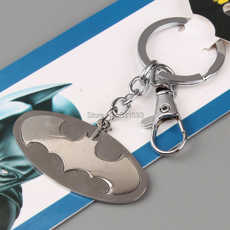 Superhero Batman Stainless Steel Keychain Metal Figure Toy Pendant Key Ring Fashion chain Men ANPD1272 - WXY-TOY LTD store