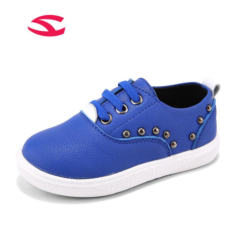 Hobibear Royal Blue Black Rubber Soft Sole Children Shoes Spring Autumn Kids Shoes Cute Rivet Baby Boys Casual Shoes GS2113<br><br>Aliexpress