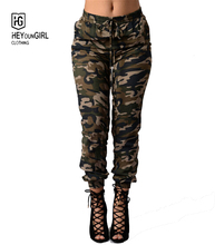 HEYounGIRL 2016 summer women Camouflage Army pant jeans Women Sport pants Trousers pantalon deportivos mujer Plus Size jean(China (Mainland))