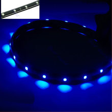 J34 Free Shipping 30CM SMD Lamp String Waterproof Flexible Car Soft Strip 15 LED Light(China (Mainland))