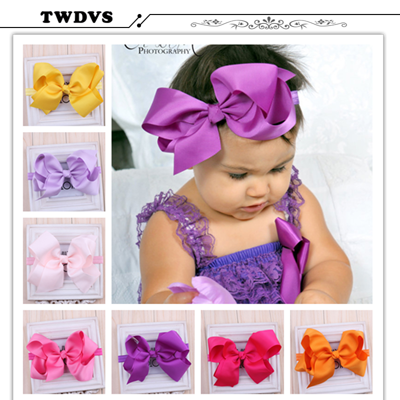 1PC TWDVS 2017 New Children Hair Bows Baby Flower Headband Multi Style Hair bands Elastic Headwear Girls Hair Accessories w016(China (Mainland))