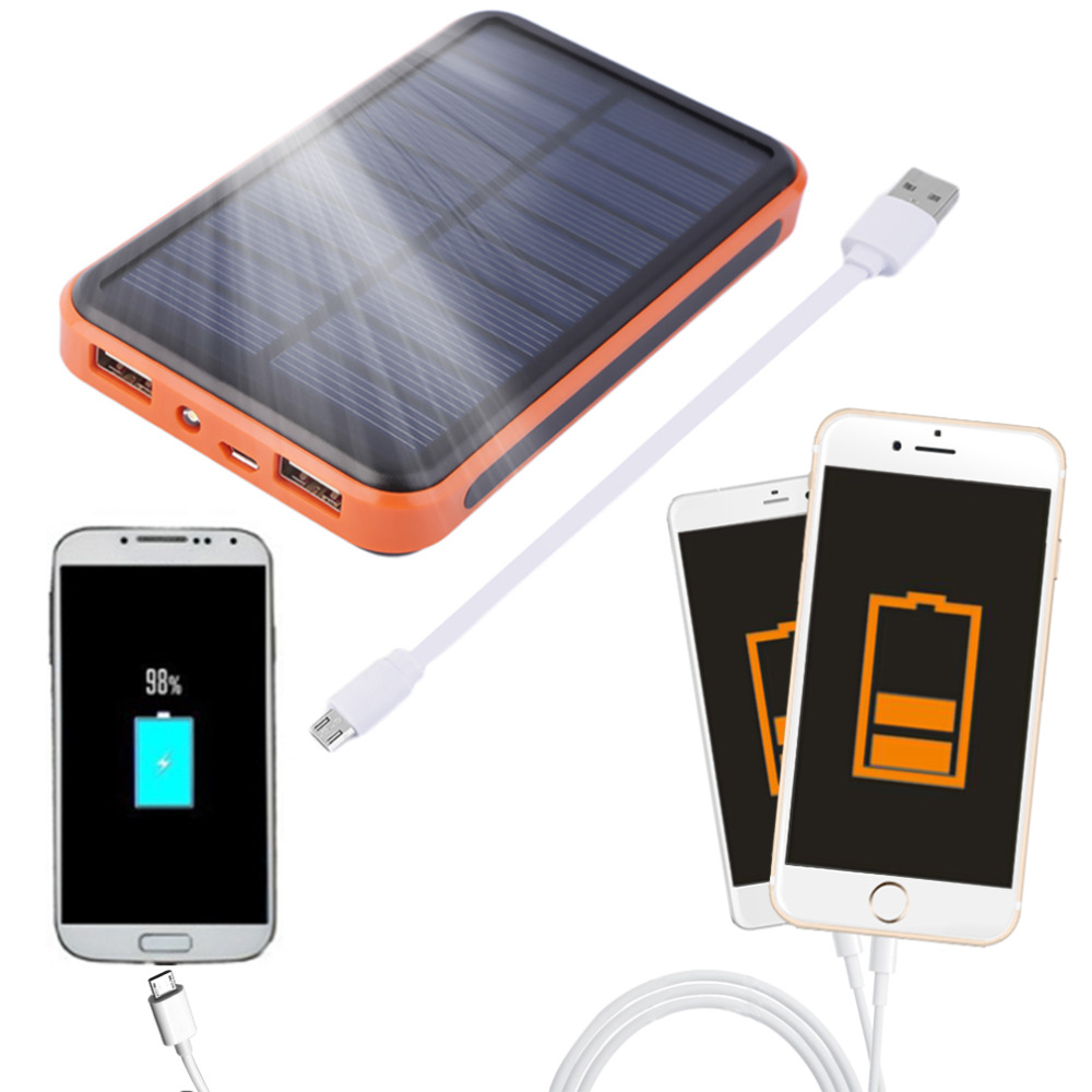 New 100000mAh Waterproof Portable Solar Power Bank Dual USB Solar Charger for cell phone Wholesale<br><br>Aliexpress