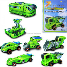 electronic 2014 new Learning & education Solar Power Car gadget 7 in 1 Educational DIY Kits Toys gift for children(China (Mainland))
