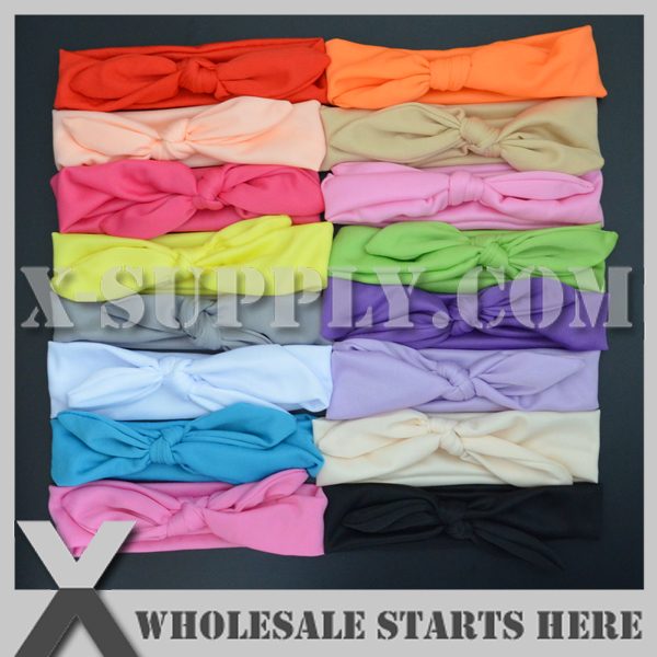Free Shipping Elastic Stretch Headband for Baby Decoration,16 Colors Mixed(China (Mainland))
