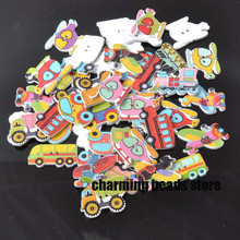 Buy Mixed cartoon Car painted Wooden decorative Buttons Scrapbooking Craft Sewing Supplies 50pcs 20-40mm MT0448x for $2.69 in AliExpress store