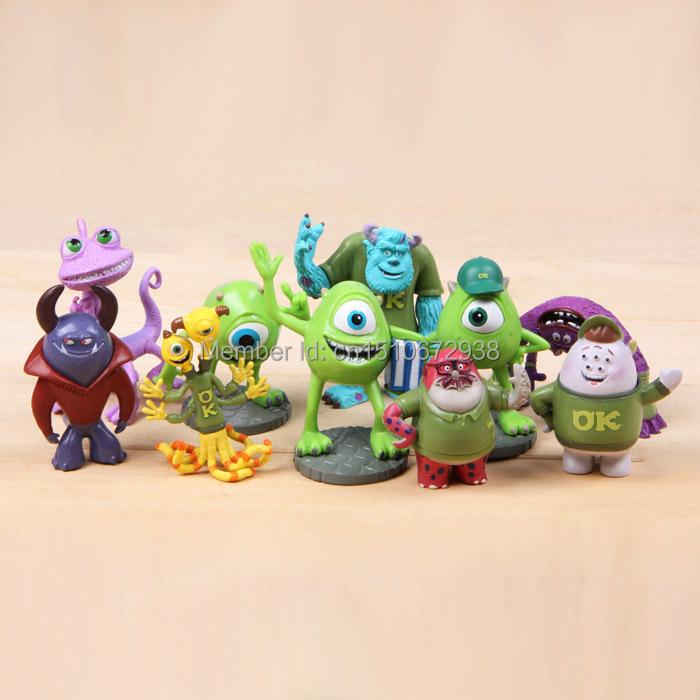 10x SET Monsters Inc. University Mini Figures Toys Gift Mini Figurines Lot(China (Mainland))