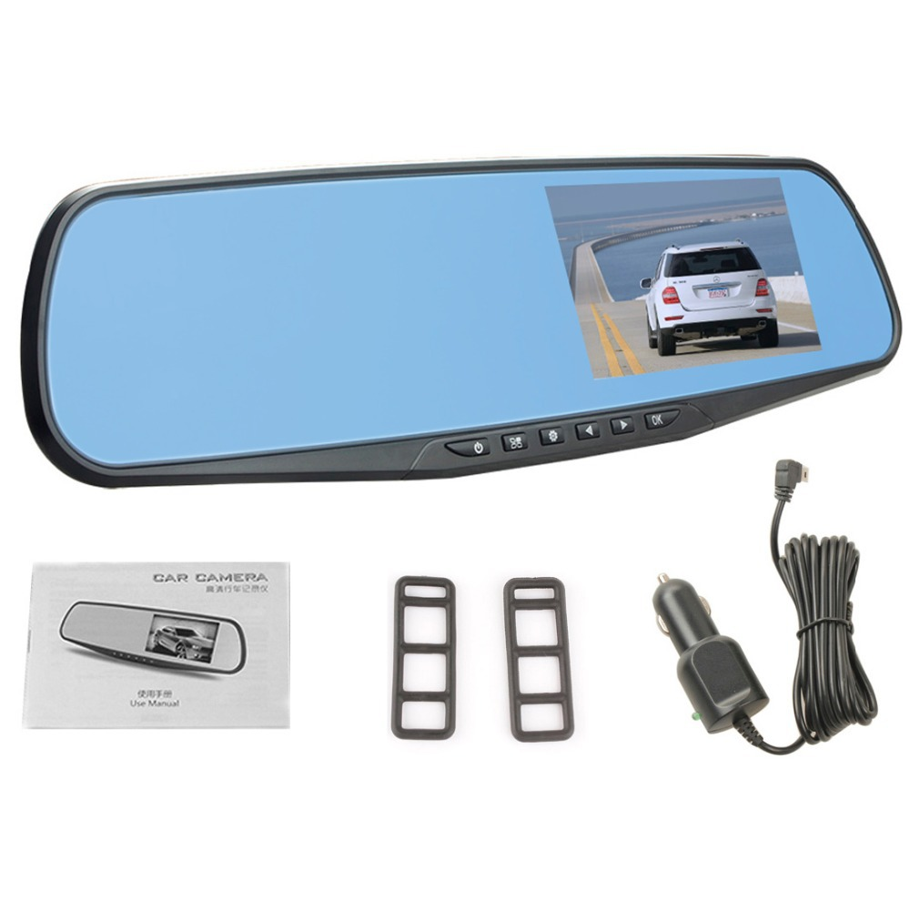 4 3 1080P FHD Car Rearview Mirror 140 Degree CMOS Car Dash Cam 3MP Motion Dection