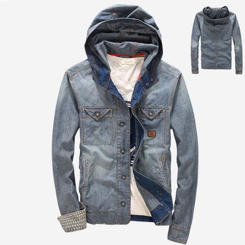 Popular hooded denim shirts buy cheap hooded denim shirts Designer clothing for men online sales